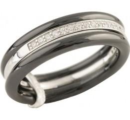 Серебряное кольцо SilverBreeze с керамикой (1214039) 16.5 размер