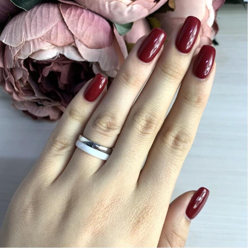 Серебряное кольцо SilverBreeze с керамикой (1150788) 19 размер