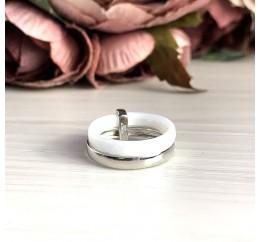 Серебряное кольцо SilverBreeze с керамикой (1150788) 16.5 размер