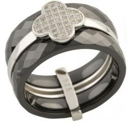 Серебряное кольцо SilverBreeze с керамикой (1150757) 19 размер