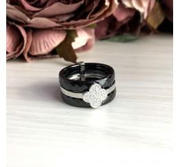 Серебряное кольцо SilverBreeze с керамикой (1150757) 18 размер