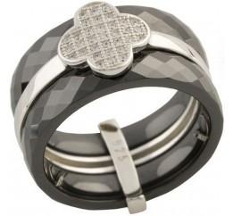 Серебряное кольцо SilverBreeze с керамикой (1150757) 17 размер