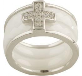 Серебряное кольцо SilverBreeze с керамикой (1150382) 16.5 размер