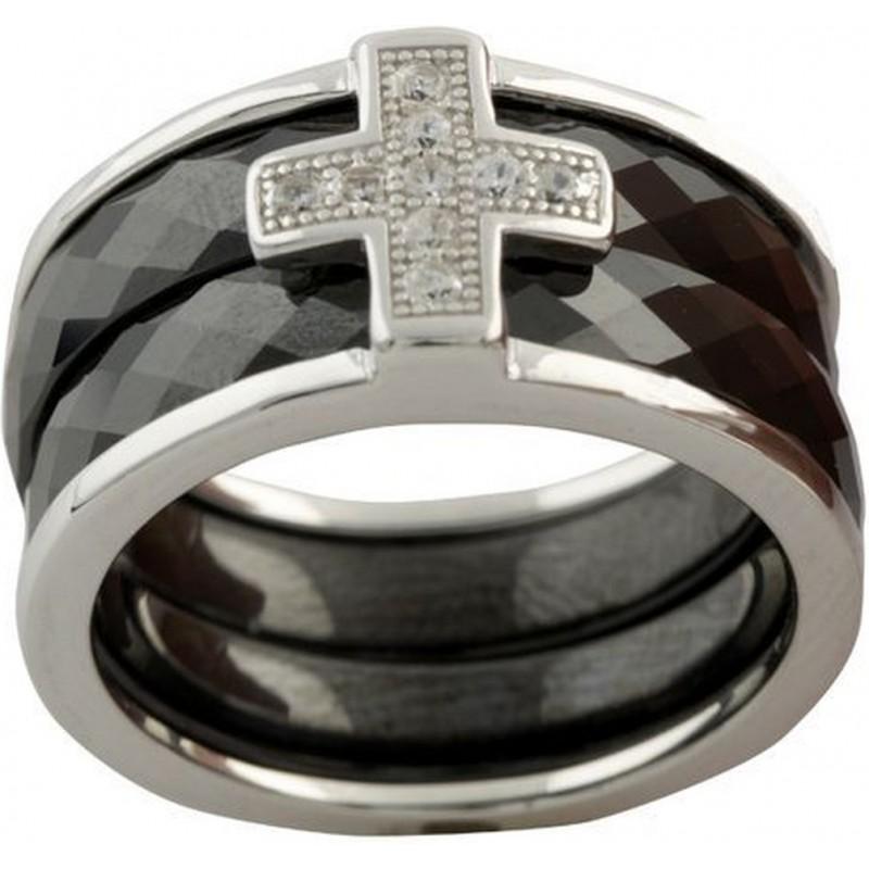 Серебряное кольцо SilverBreeze с керамикой (1150306) 19 размер