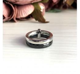 Серебряное кольцо SilverBreeze с керамикой (1093207) 18 размер