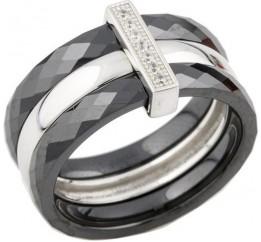 Серебряное кольцо SilverBreeze с керамикой (0481814) 16 размер
