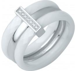 Серебряное кольцо SilverBreeze с керамикой (0481791) 18 размер