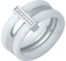 Серебряное кольцо SilverBreeze с керамикой (0481791) 16.5 размер