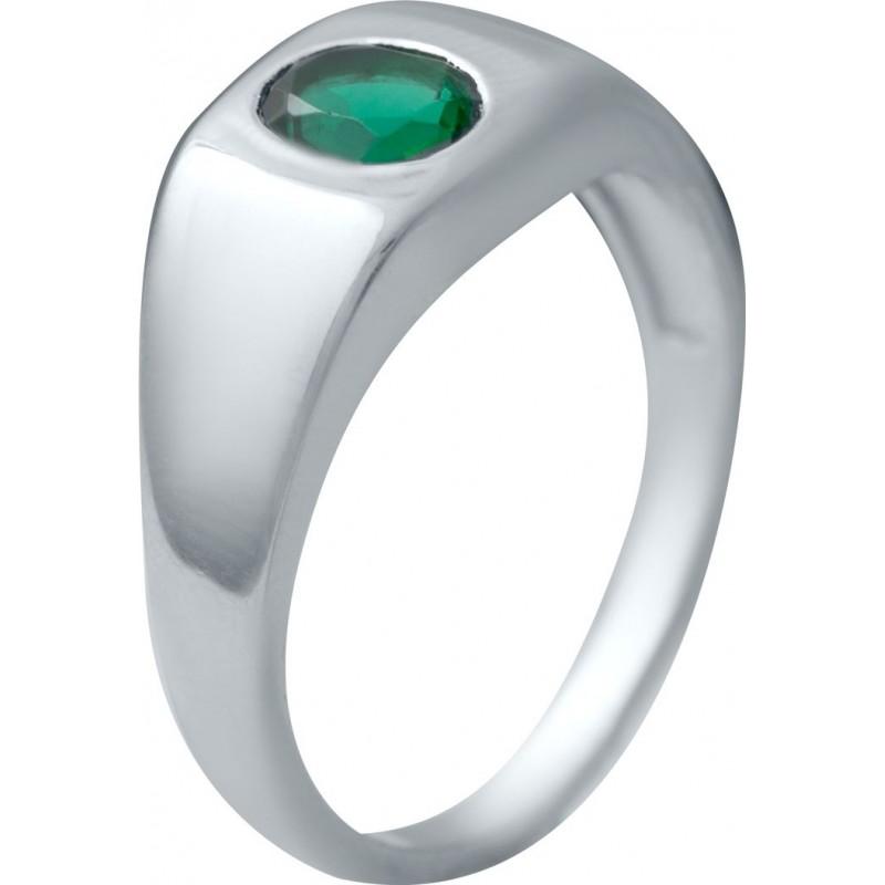 Серебряное кольцо SilverBreeze с изумрудом nano (2034094) 18.5 размер