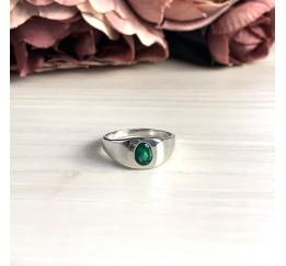 Серебряное кольцо SilverBreeze с изумрудом nano (2034094) 18 размер