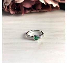 Серебряное кольцо SilverBreeze с изумрудом nano (2034070) 17 размер