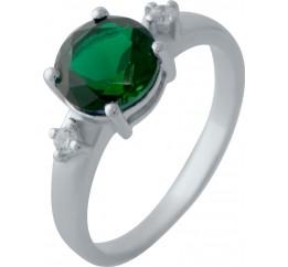 Серебряное кольцо SilverBreeze с изумрудом nano (2028581) 18.5 размер