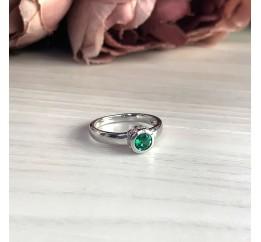 Серебряное кольцо SilverBreeze с изумрудом nano (1946688) 18 размер