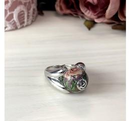 Серебряное кольцо SilverBreeze с емаллю (2004103) 17.5 размер