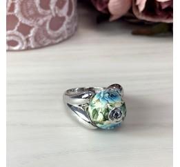 Серебряное кольцо SilverBreeze с емаллю (2004080) 18.5 размер