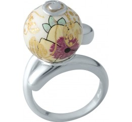 Серебряное кольцо SilverBreeze с емаллю (2003991) 18 размер