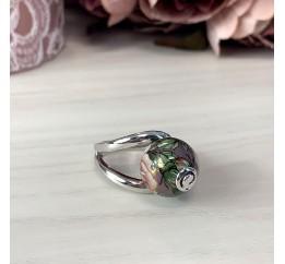 Серебряное кольцо SilverBreeze с емаллю (2003915) 18.5 размер