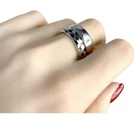 Серебряное кольцо SilverBreeze с емаллю (1985939) 18 размер