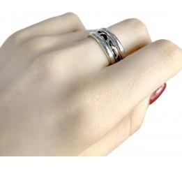 Серебряное кольцо SilverBreeze с емаллю (1985649) 19 размер