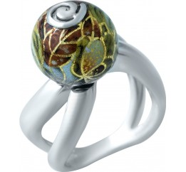 Серебряное кольцо SilverBreeze с емаллю (1929261) 17.5 размер