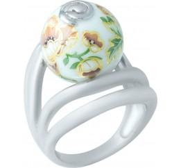 Серебряное кольцо SilverBreeze с емаллю (1928356) 18 размер