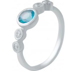 Серебряное кольцо SilverBreeze с аквамарином nano (2034797) 17 размер