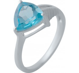 Серебряное кольцо SilverBreeze с аквамарином nano (2022442) 18 размер
