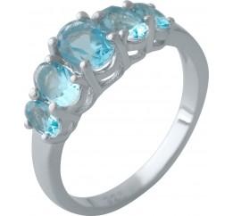 Серебряное кольцо SilverBreeze с аквамарином nano (2011859) 17.5 размер