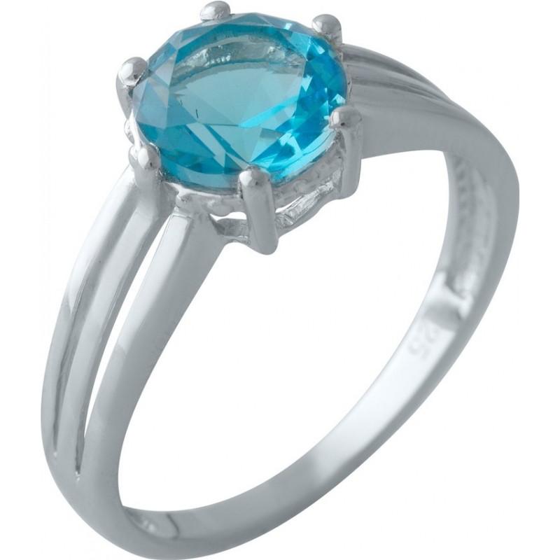 Серебряное кольцо SilverBreeze с аквамарином nano (2011644) 17 размер