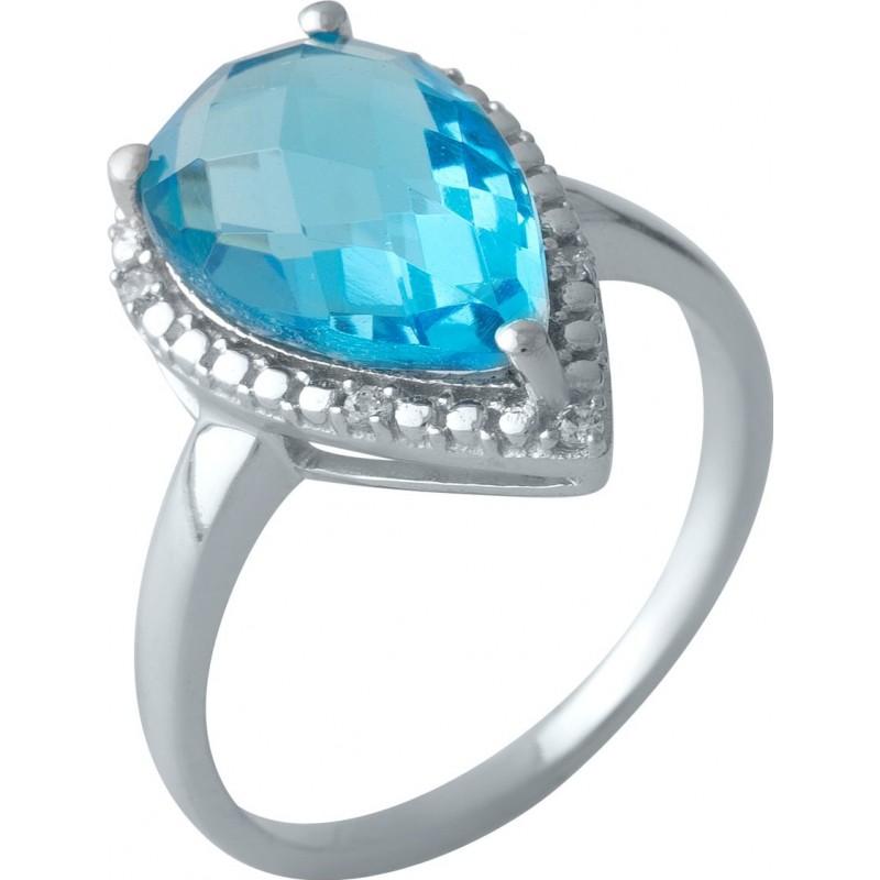 Серебряное кольцо SilverBreeze с аквамарином nano (1994627) 18.5 размер