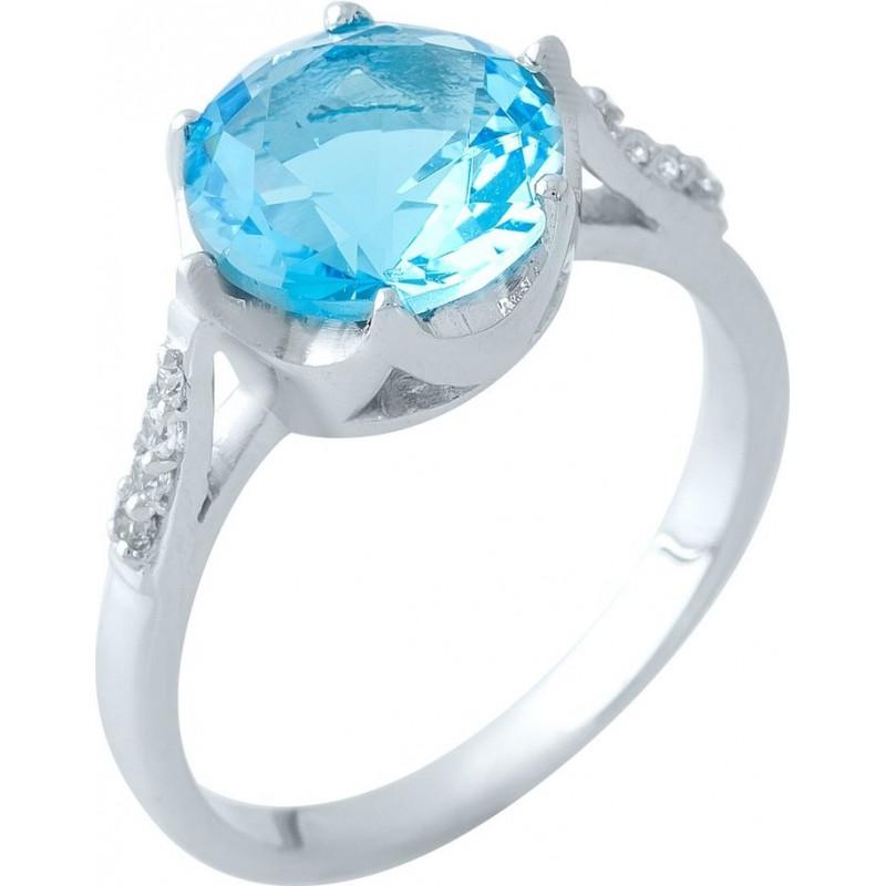 Серебряное кольцо SilverBreeze с аквамарином nano (1965344) 18.5 размер