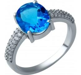 Серебряное кольцо SilverBreeze с аквамарином nano (1929438) 17 размер