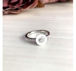 Серебряное кольцо SilverBreeze с , керамикой (1908464) 18 размер