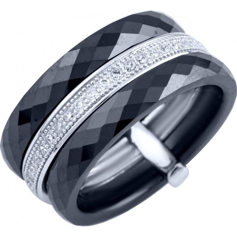Серебряное кольцо SilverBreeze с , керамикой (1904107) 17 размер