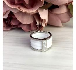Серебряное кольцо SilverBreeze с , керамикой (1903964) 16 размер