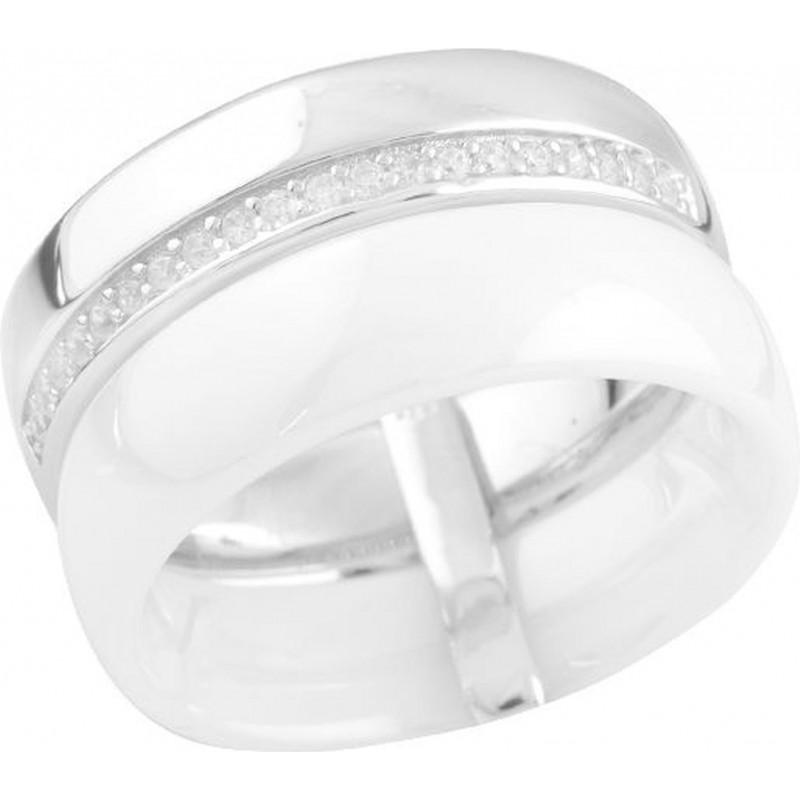 Серебряное кольцо SilverBreeze с , керамикой (1577134) 17.5 размер