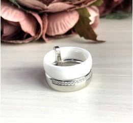 Серебряное кольцо SilverBreeze с , керамикой (1577134) 17 размер