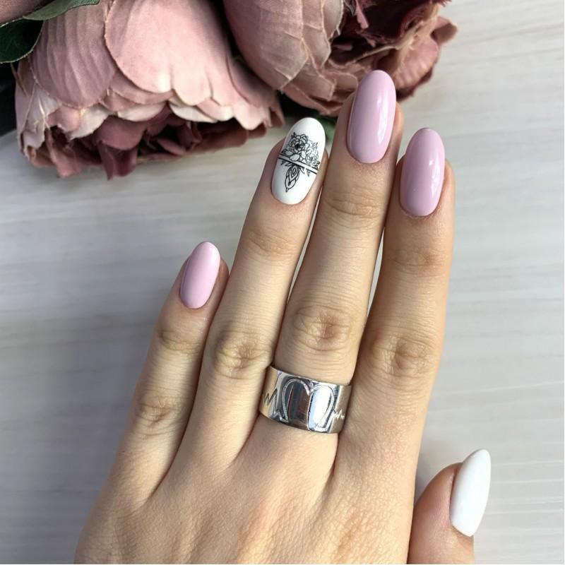 Серебряное кольцо SilverBreeze без камней (2036630) 17 размер