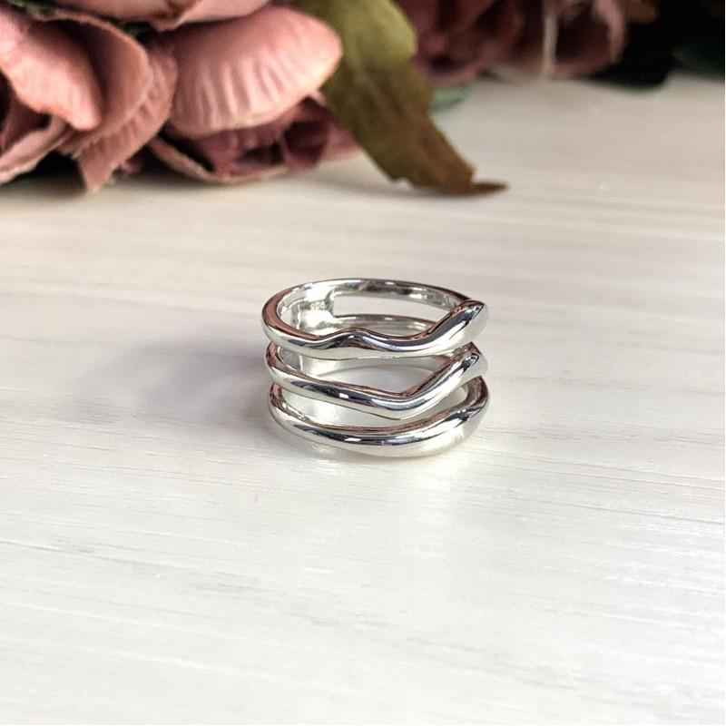 Серебряное кольцо SilverBreeze без камней (2031598) 17 размер