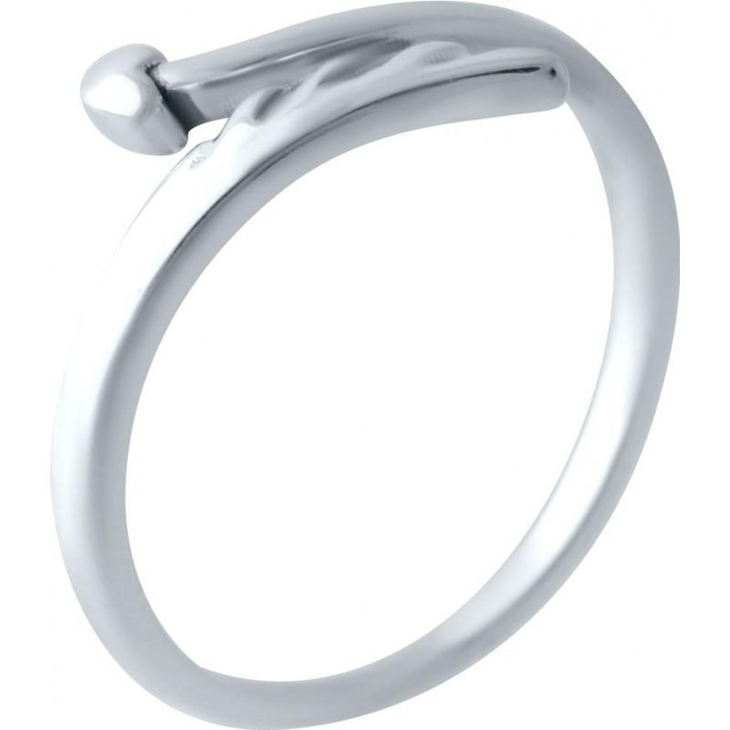 Серебряное кольцо SilverBreeze без камней (2030034) Регулируемый размер