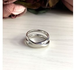 Серебряное кольцо SilverBreeze без камней (2029526) 17.5 размер