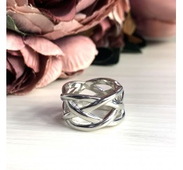 Серебряное кольцо SilverBreeze без камней (2029472) 18 размер