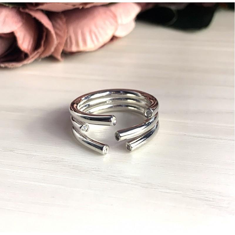 Серебряное кольцо SilverBreeze без камней (2029465) 17.5 размер
