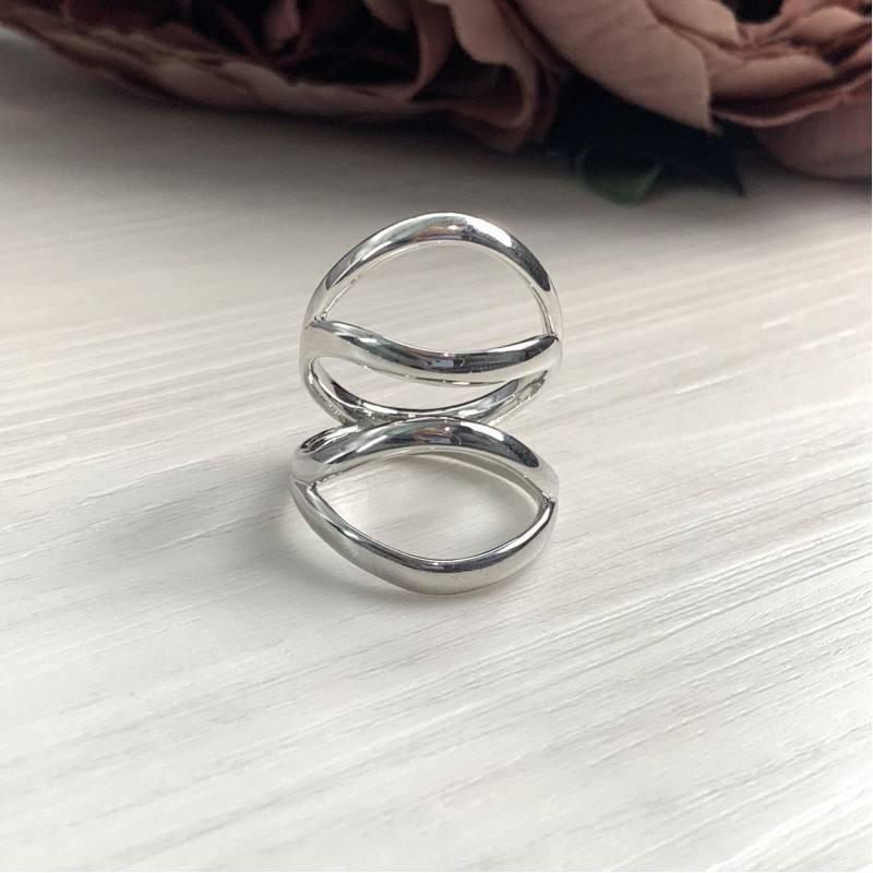 Серебряное кольцо SilverBreeze без камней (2016441) 19.5 размер