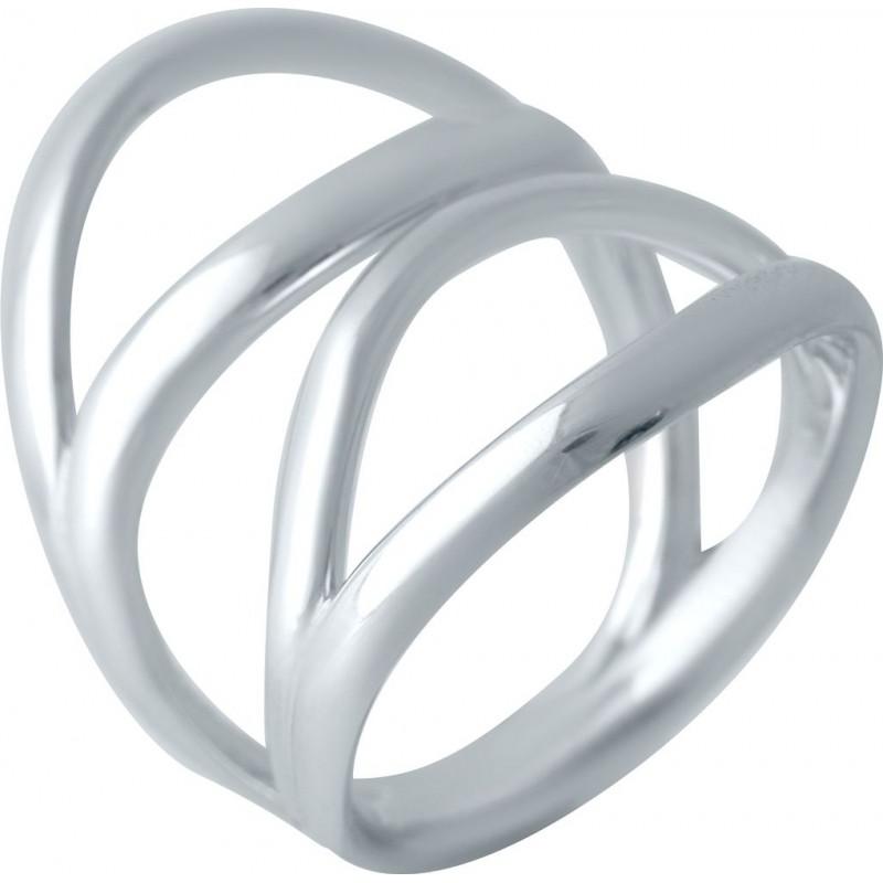 Серебряное кольцо SilverBreeze без камней (2016441) 17.5 размер