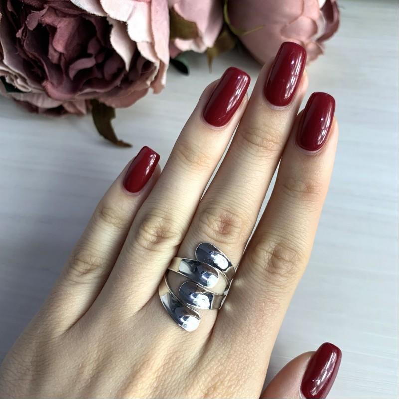Серебряное кольцо SilverBreeze без камней (2016342) 17 размер