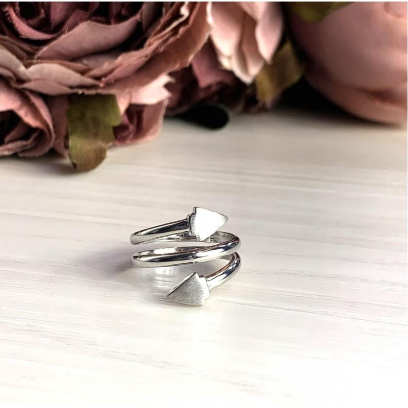 Серебряное кольцо SilverBreeze без камней (2016335) 15.5 размер