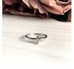Серебряное кольцо SilverBreeze без камней (2016274) 17.5 размер