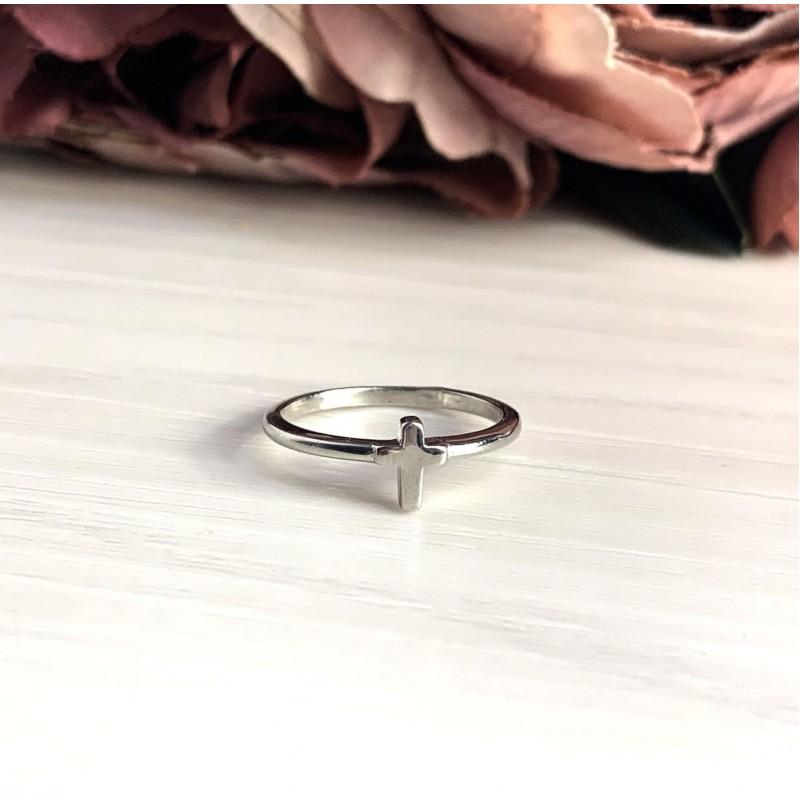 Серебряное кольцо SilverBreeze без камней (2016274) 17 размер