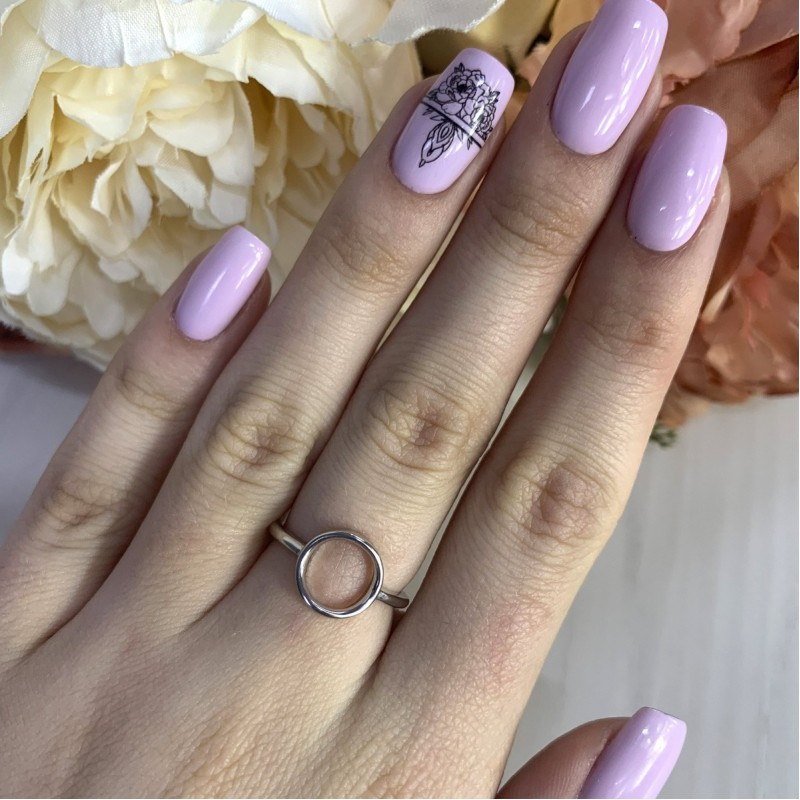 Серебряное кольцо SilverBreeze без камней (2002239) 15 размер